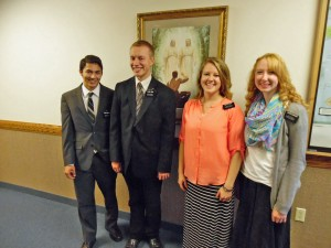 Tyler with Sister Missionaries