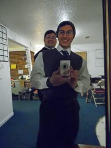 Tyler and Hudon Mirror Selfie