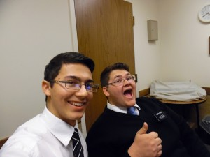 Tyler with Elder Hudson Thumbs Up